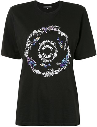 Markus Lupfer sequined logo-print T-shirt