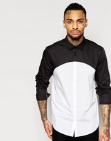 Asos Shirt With Cut And Sew In Regular Fit