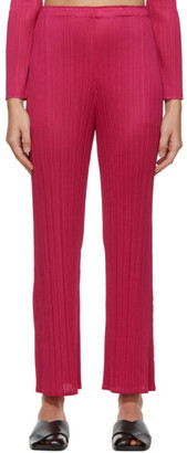 Pleats Please Issey Miyake Pink Monthly Colors December Trousers