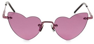 Saint Laurent LouLou Rimless 50MM Heart Sunglasses