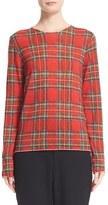 Comme des Garcons Women's Plaid Wool Sweater