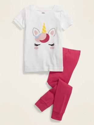 Old Navy Unisex Unicorn Graphic Pajama Set for Toddler & Baby
