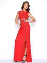 Mac Duggal Cap Sleeves Long Evening Dress 1903M
