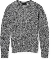 Calvin Klein Collection - Gabriel Mélange Cotton And Cashmere-blend Sweater