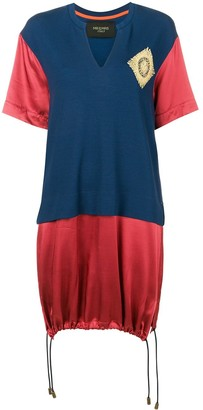 Mr & Mrs Italy colour-block long T-shirt
