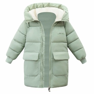 GULLIVER Girl Quilted Down Jacket//Coat Plain High Collar Hooded Teddy Lining Long Sleeve Velvet Colour Grey Zip Casual Winter Padded for 3-6 Years Waterproof Pockets