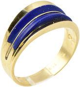 One Kings Lane Vintage 1960s Inlaid Lapis & Gold Ring