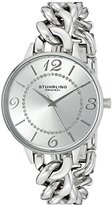 Stuhrling Original Women's Quartz Watch with Silver Dial Analogue Display and Silver Stainless Steel Bracelet 588.01