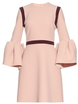 Roksanda Hadari bell-sleeved stretch-cady dress