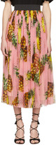 Dolce & Gabbana Pink Pineapple Skirt