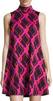 Julie Brown Sleeveless A-line Printed Dress, Shirley