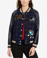 William Rast Embellished Baseball Jacket