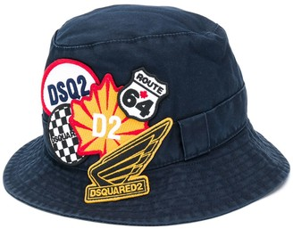 DSQUARED2 Logo Patches Bucket Hat
