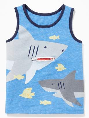 Old Navy Embellished Graphic Tank for Toddler Boys