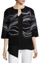 St. John Double Weave Embroidered Jacket