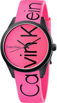 Calvin Klein Colour stainless steel and rubber watch