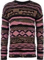 Laneus striped intarsia jumper