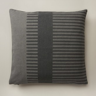 """Oui Combo Stripe Pillow Cover Charcoal 18"""" X 18"""""""