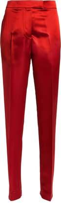 Helmut Lang High-Rise Satin Straight Leg Trousers