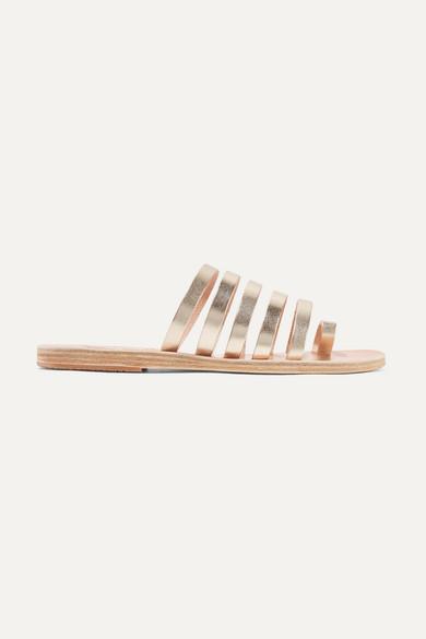 Ancient Greek Sandals Niki Metallic Leather Sandals - Gold