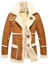 Cwmalls Men's Rancher Shearling Sheepskin Jacket