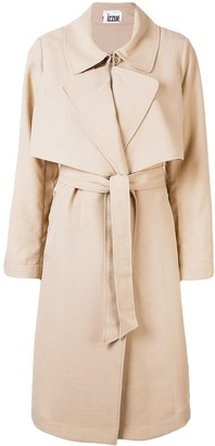 Izzue Belted Cotton Trench Coat
