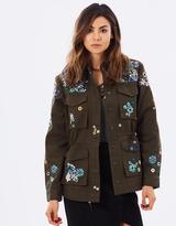 Miss Selfridge Embroidered Military Jacket