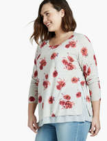 Lucky Brand Floral Print Pullover Sweater