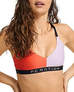 P.E Nation Collision Color Blocked Sports Bra