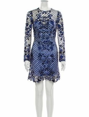 Thurley Lace Pattern Mini Dress w/ Tags Blue