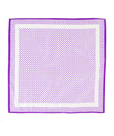 Vintage Purple/White Mini Polka Dot Scarf