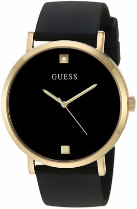 GUESS Men's Stainless Steel Japanese Automatic Watch with Silicone Strap