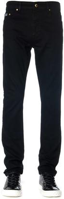 Versace Black Cotton Slim Fit Jeans