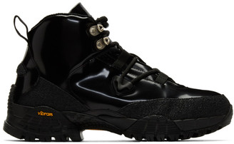 Alyx Black Patent Hiking Boots