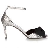 Saint Laurent Jane bow-detail glitter sandals