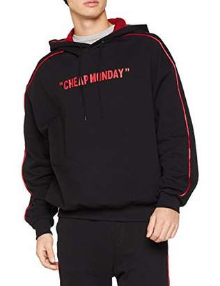 Cheap Monday Men's Goal Bloody Hood Review Hoodie, Black, X-Large (Size:)