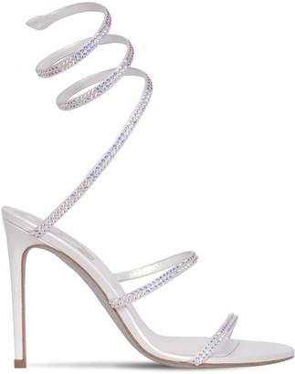 Rene Caovilla 105mm Snake Embellished Satin Sandals