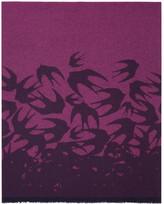 McQ Indigo & Pink Swallow Dégradé Scarf