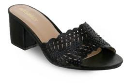 OLIVIA MILLER Lauderhill Laser Cut Mule Sandals Women's Shoes