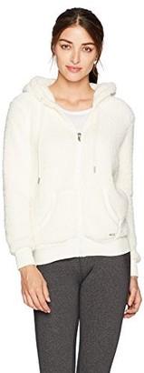 Andrew Marc Women's Teddy Fleece Full Zip Hooded Pullover