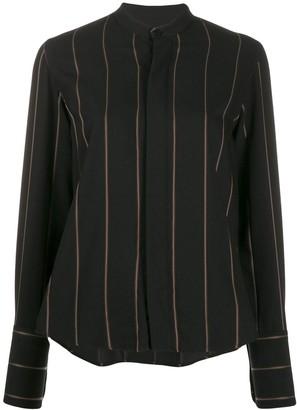 Ami Striped Mandarin Collar Shirt