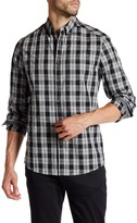 Kenneth Cole New York Long Sleeve Button Down Collar Plaid Shirt