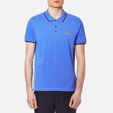 Kenzo Men's Cotton Pique Tiger Polo Shirt Azure Blue