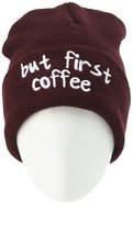 "Charlotte Russe """"But First Coffee"""" Knit Beanie"