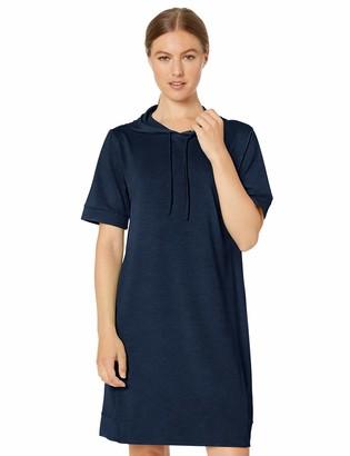Core 10 Soft Workout Hoodie Dress Navy/Black Heather 2X Plus