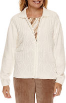 Alfred Dunner Twilight Point Long Sleeve Chenille Cardigan