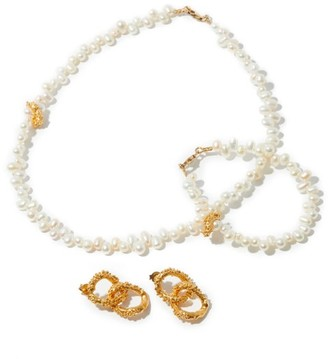 Alighieri Pearl Earrings, Necklace And Bracelet - Womens - Gold