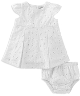 Absorba Girls' Eyelet Dress & Bloomers Set - Baby