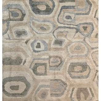 Exquisite Rugs Metro-Velvet Hand-Knotted White/Silver Area Rug Exquisite Rugs