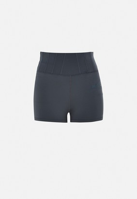 Missguided Plus Size Grey Msgd Corset Detail Gym Booty Shorts